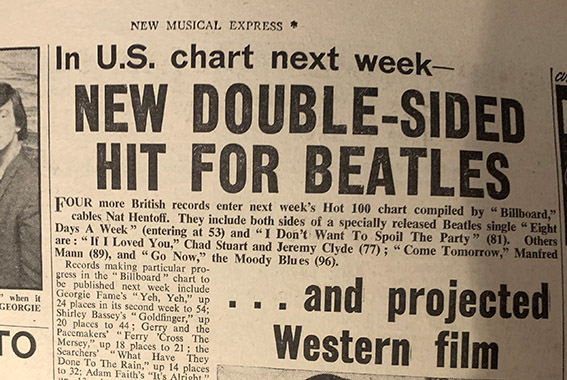 New Musical Express 12 February 1965